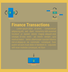 Finance transaction idea concept vector