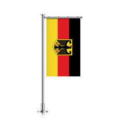 Flag of germany hanging on a pole vector