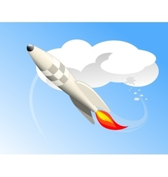 Flying rocket vector image