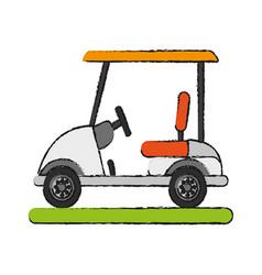 Golf cart icon image vector
