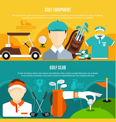 golf game horizontal banners vector image vector image