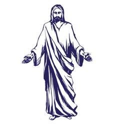 Jesus christ the son of god symbol of vector