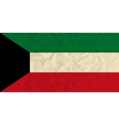 Kuwait paper flag vector image