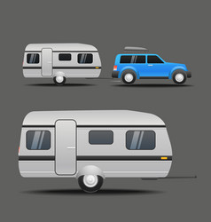 modern car with the trailer vector image vector image