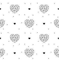 outline hearts seamless pattern for valentines day vector image