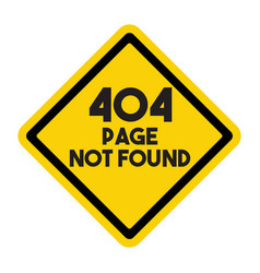 Page not found sign vector