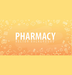 pharmacy medical background health care vector image