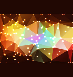 Red pink green blue brown geometric background vector