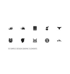 set of 10 editable kin icons includes symbols vector image vector image
