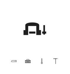 Set of 5 editable tools icons includes symbols vector