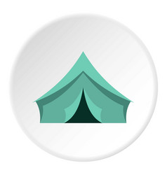 Turquoise tent icon circle vector