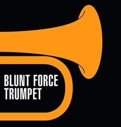 Blunt force trumpet vector