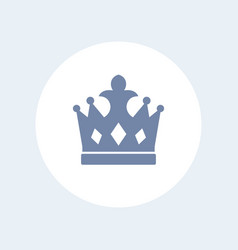 Crown icon isolated over white vector