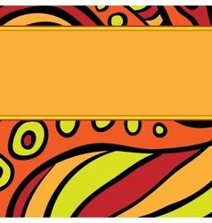 Orange pattern with stripe vector image