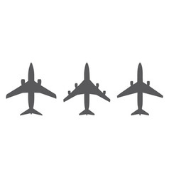 Airplanes icons vector