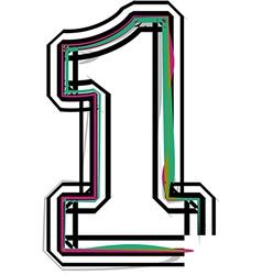 Font number 1 vector