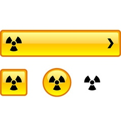 Radiation button set vector