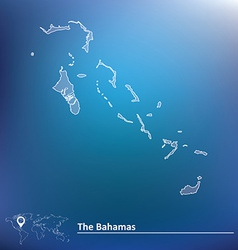Map of bahamas vector