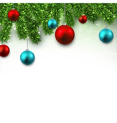 Christmas background with fir branches vector