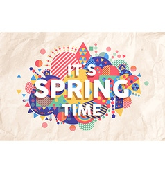 Spring time quote poster design vector