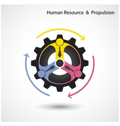 Human resource icon abstract logo design vector image