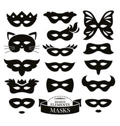 Set of different masks vector