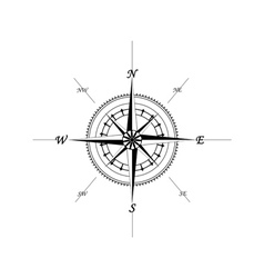 Marine compass vector