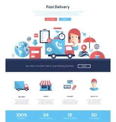 Delivery services website header banner with vector