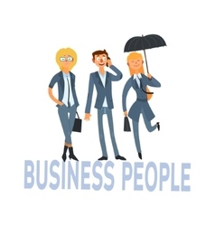 Business people set 1 vector