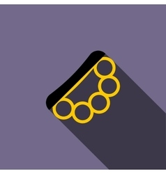 Brass knuckles icon flat style vector