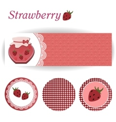 Set of rectangular and round stickers for vector