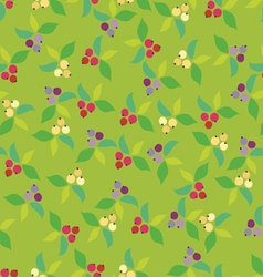 Background berry green vector