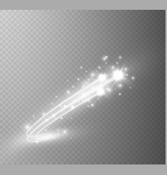 Abstract glowing magic star light effect vector