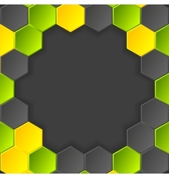 Abstract hi-tech dark background with vector image vector image
