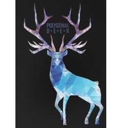 Abstract polygonal deer vector image vector image