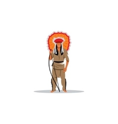Aztec redskin warrior sign vector image vector image