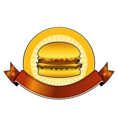 Burger restaurant banner vector