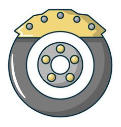 Car disk brake icon cartoon style vector