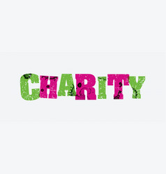 Charity concept stamped word art vector