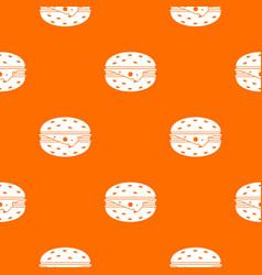 Cheeseburger pattern seamless vector