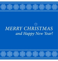 Christmas and new year card-ornamental snowflakes vector