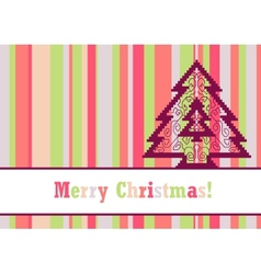 Christmas card with pine vector image vector image