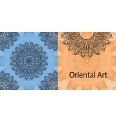 Elegant oriental invitation print yoga ornament vector