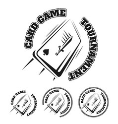 emblem of the card game vector image