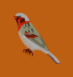 flat shading style icon sparrow vector image