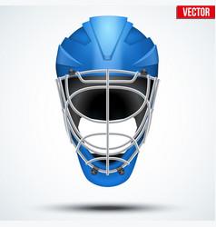 Floorball and floor hockey helmet vector