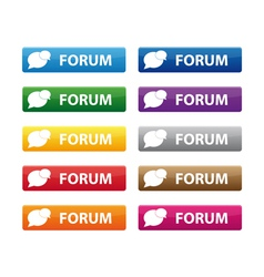 Forum buttons vector image vector image