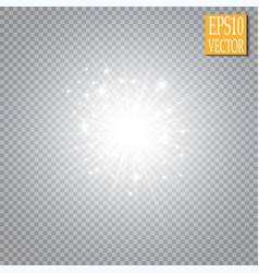 Glow light effect cloud of glittering dust vector
