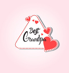 happy grandparents day greeting card sticker vector image vector image