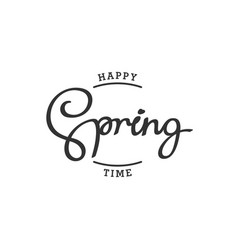 happy spring time vector image vector image